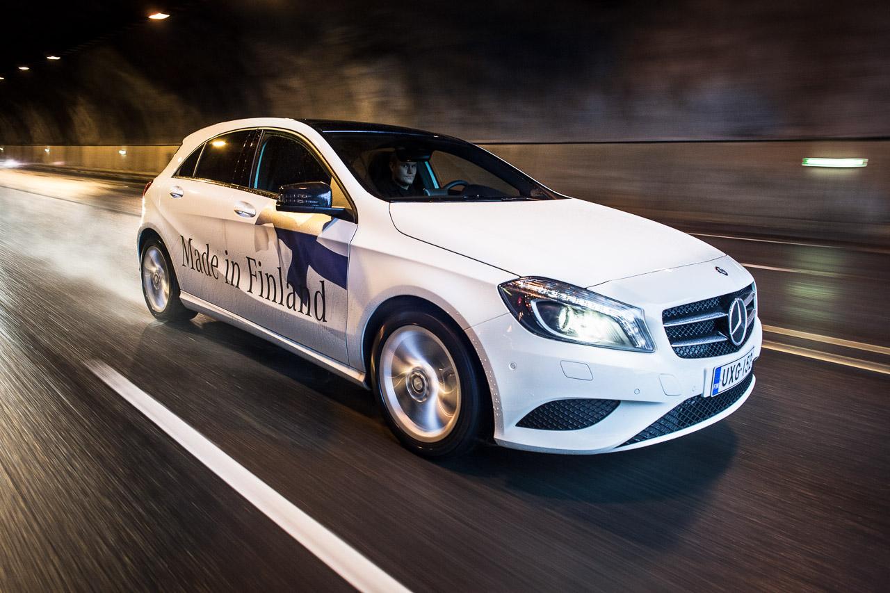 Mercedes-Benz A-sarja tunnelissa / Kuva: Markus Markkanen