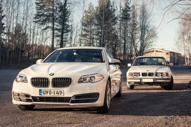 BMW 518: E34 ja F10 keulat.