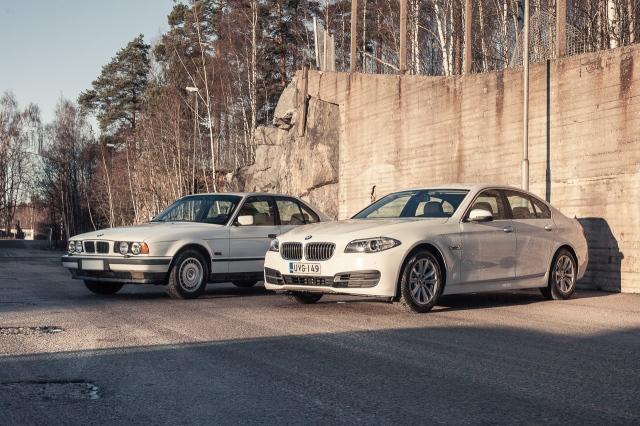 BMW 518: E34 ja F10 etuviistosta