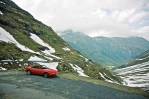 Bernina Pass. Sveitsi. Katto pysyi auki kahdessa kilometrissä.