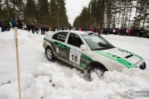 #18 Jukka Ketomäki / Skoda Octavia WRC. Pohjanmaa-ralli, EK3.