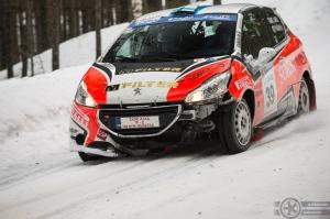 #39 Taisko Lario / Peugeot 208 R2. Pohjanmaa-ralli, EK3.