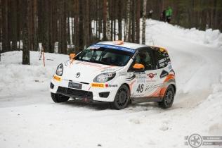 #46 Jussi Lindberg / Renault Twingo R2. Pohjanmaa-ralli, EK3.