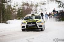#3 Kristian Kiviniemi / Mitsubishi Lancer Evo 10. Pohjanmaa-ralli EK4