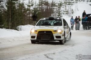 #12 Inessa Tushkanova / Mitsubishi Lancer Evo 10. Pohjanmaa-ralli EK4