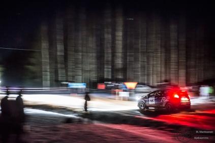 #35 Mici Eestilä / Ford Fiesta R2. Pohjanmaa-ralli, EK1.