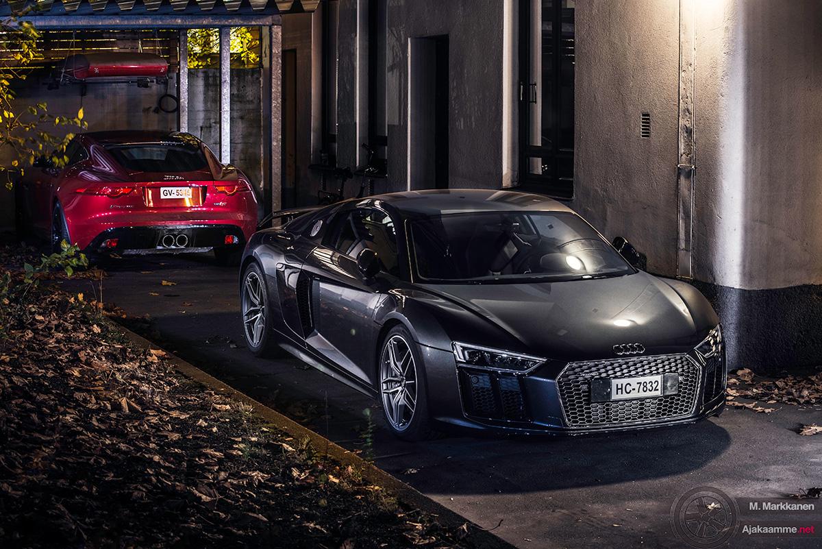 Jaguar F-Type ja Audi R8